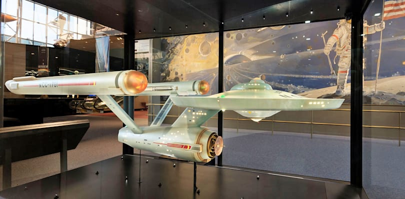 Original USS Enterprise prop restored to its former glory