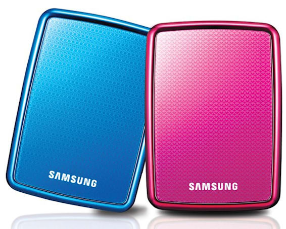 Samsung Mini S2 portable HDD graced with colors that perfectly match your tacky beach gear