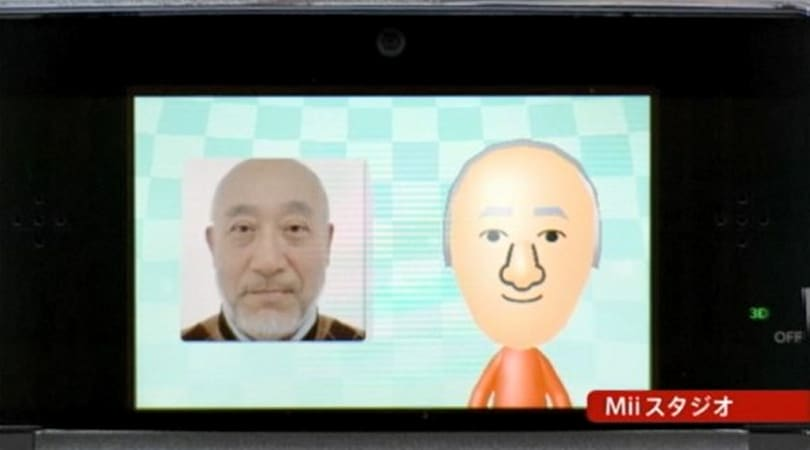 Nintendo 3DS automatic Mii creation and editing demonstrated on video