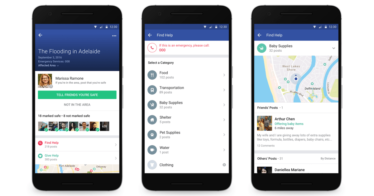Facebook Adds Ways to Find and Offer Help Through Safety Check