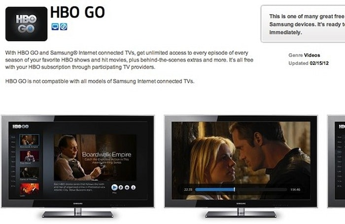 HBO Go rolls out to most Samsung Smart HDTVs -- but not through all providers