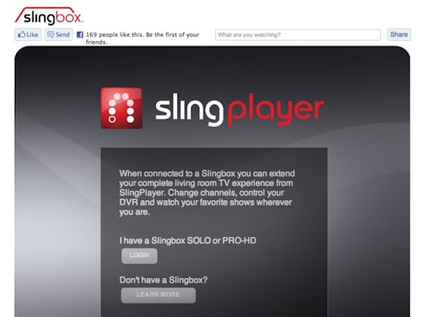 SlingPlayer for Facebook is okay, Chrome(book) compatibility is better