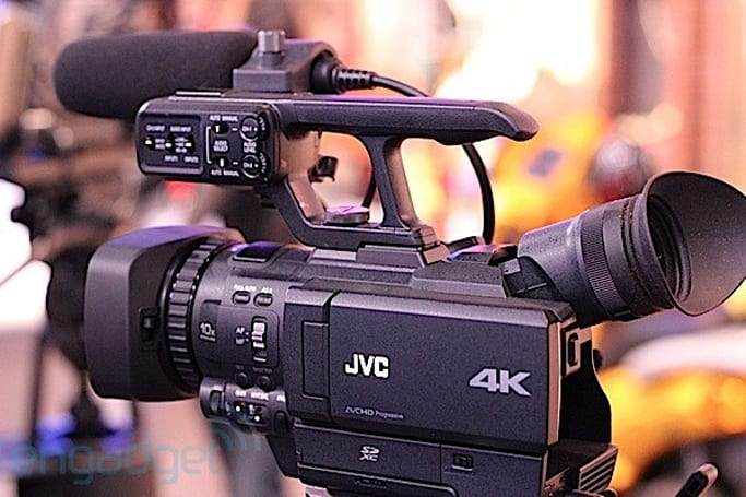 JVC's GY-HMQ10 4K Camcorder hands-on (video)