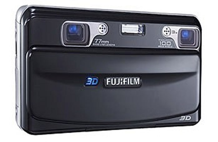 Fujifilm's FinePix Real 3D W1 camera and Real 3D V1 picture viewer detailed, can do 3D movies as well
