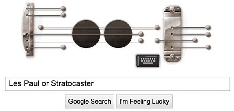 Google doodle lets you play a recordable guitar ditty in honor of Les Paul