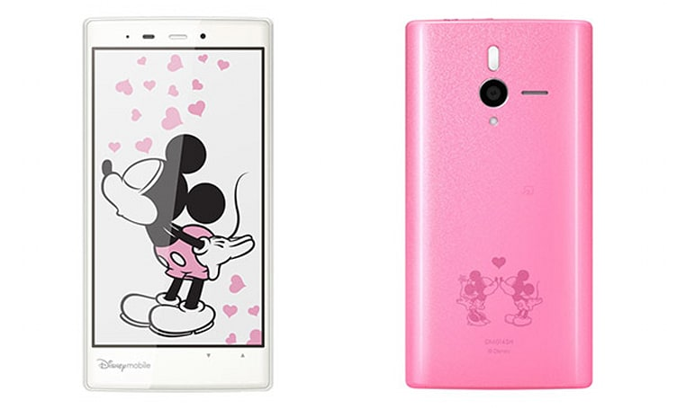 Softbank unveils Disney-themed Android handset in pink and white