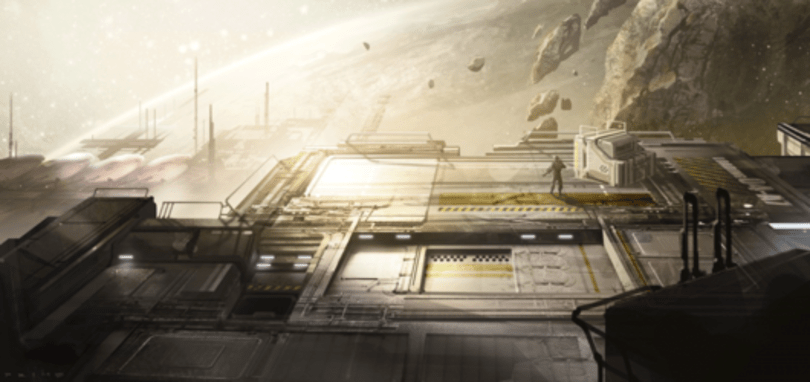 Halo 4 'Warhouse' multiplayer map concept art and info deployed