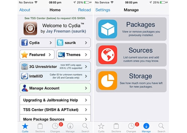 Cydia update courts iOS 7 jailbreakers with a new interface (video)