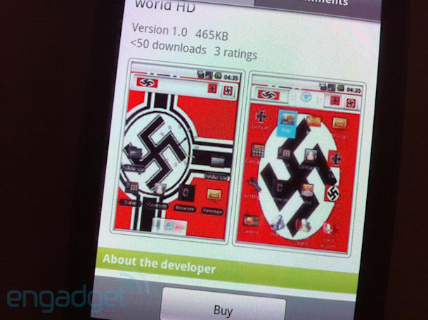 Editorial: Waiter, there's a Nazi theme in my Android Market (updated)