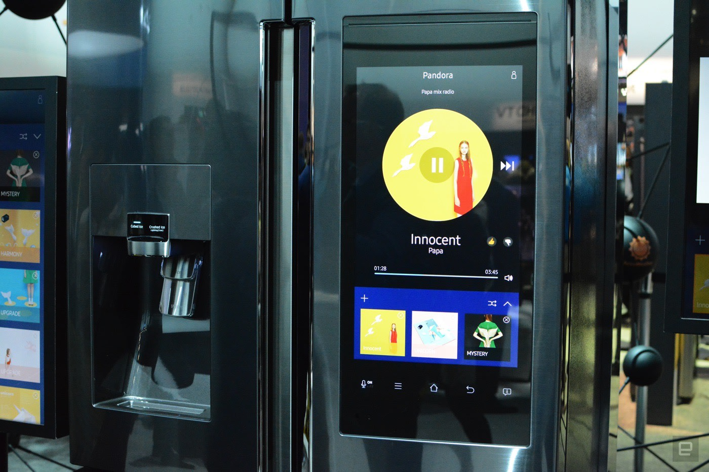 You can order groceries from the door of Samsung's new fridge
