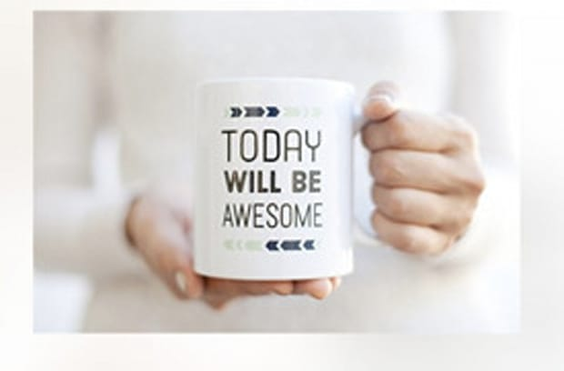 'Today Will Be Awesome' Coffee Mug