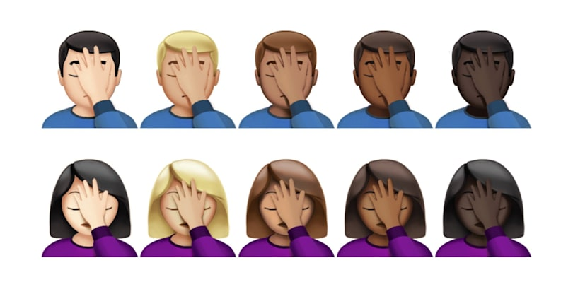 See the Face Palm and 'Harambe' emojis on iOS for the first time