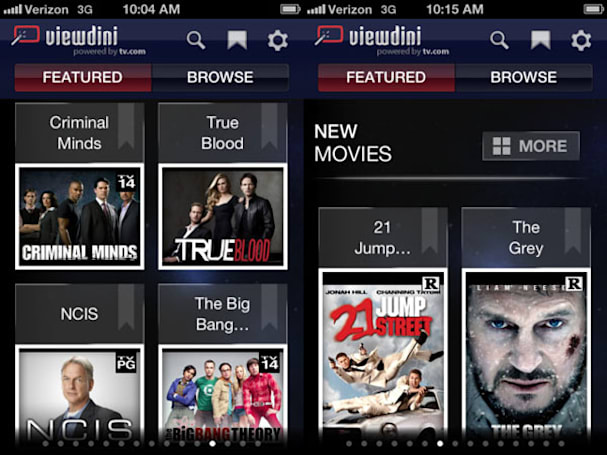 Verizon's Viewdini appears on iOS: works on any network, hunts video from 11 sources