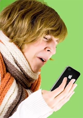 Get diagnosed by spitting on an iPhone, social graces terminal
