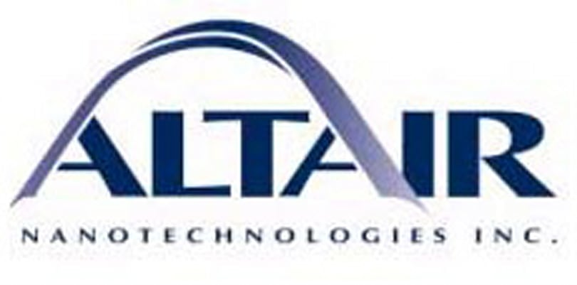 Altair Nanotechnologies, AES collaborate on energy storage products