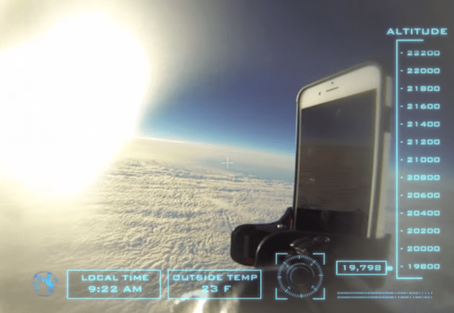 This iPhone 6 case survived a drop from space