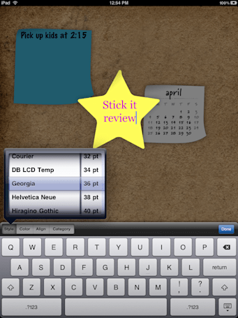 "Stick It for iPad: Beautiful ""To-Do"" notes application"