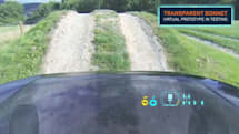 'Transparent' Land Rover hood shows the rubber meeting the road (video)