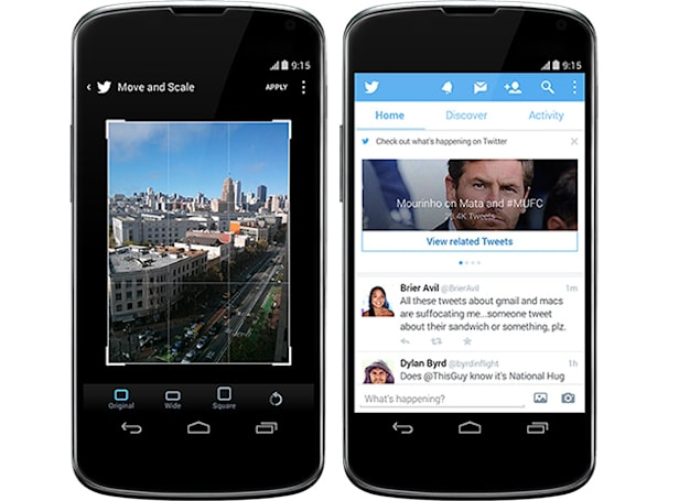 Twitter update now lets you crop, rotate photos on Android