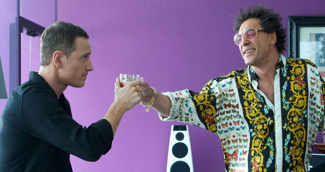 Michael Fassbender and Javier Bardem in 'The Counselor'