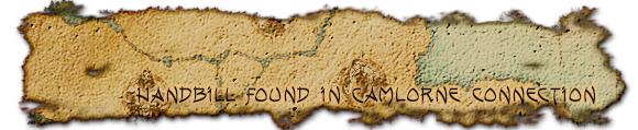 Handbill found in Camlorn