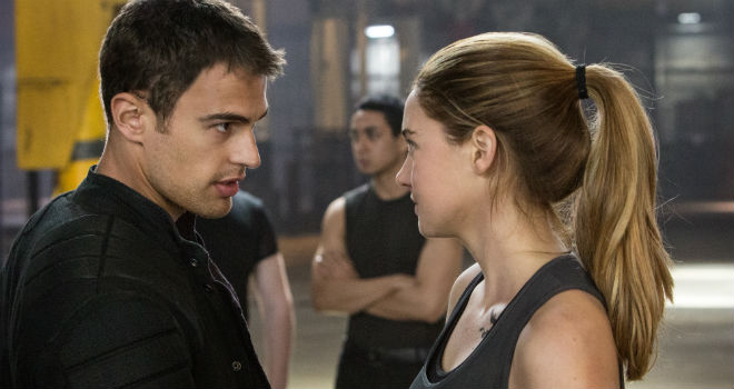 divergent clip shailene woodley theo james kissing