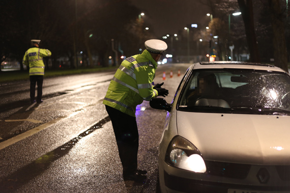 Police drink-drive check