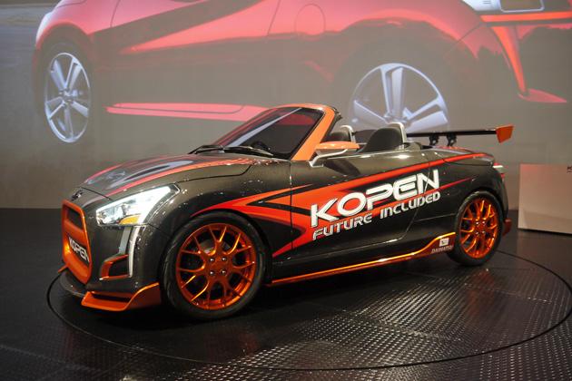 【東京オートサロン2014】マニュアルもある! ダイハツの軽オープンスポーツ「KOPEN(コペン)」