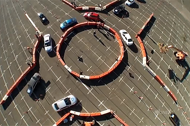 Mythbusters roundabout test