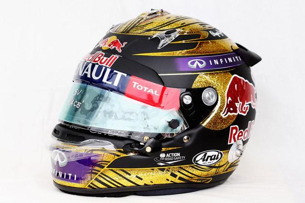 ベッテルが年間王者を決めた独GPで着用したヘルメットが過去最高額で落札!
