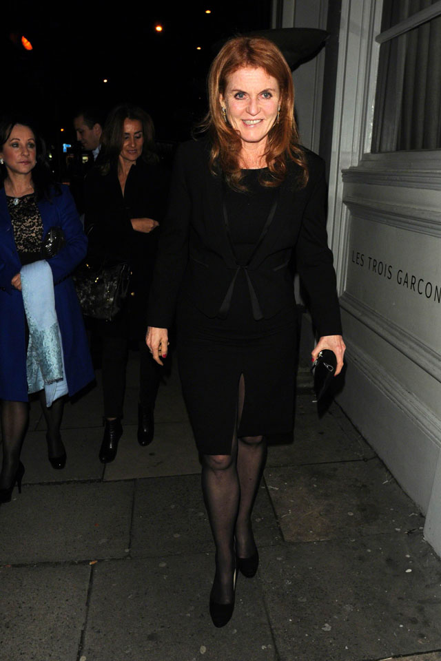 MUST BYLINE: EROTEME.CO.UK FOR UK SALES: Contact Caroline 44 207 431 1598  Prince Andrew at the Les Trois Gar?ons in Bethnal Green Road with Princess Beatrice  and the Duchess of York.  NON-EXCLUSIVE     February 13, 2014 Job: 140212L1  London, UK EROTEME.CO.UK 44 207 431 1598