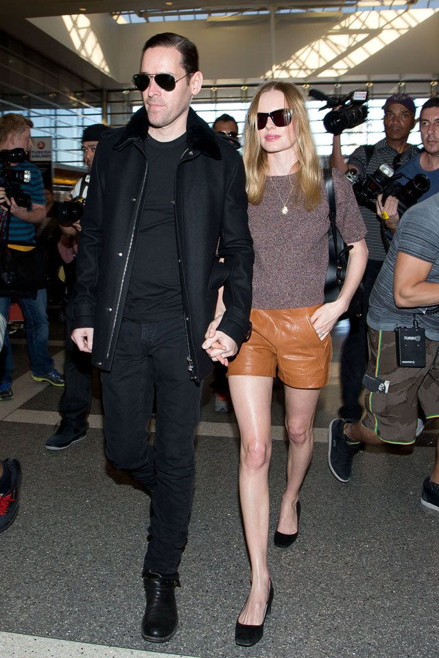 LOS ANGELES, CA - JANUARY 17: Michael Polish and Kate Bosworth are seen on January 17, 2014 in Los Angeles, California.  (Photo by GVK/Bauer-Griffin/GC Images)