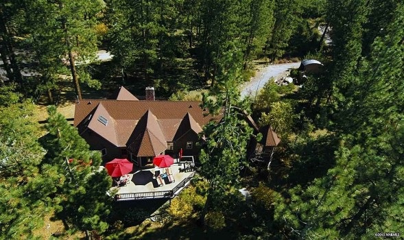 Ty Cobb's Lake Tahoe home, aerial view