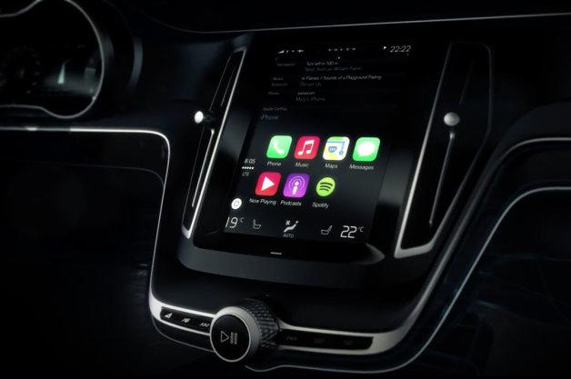 【ジュネーブ2014】ボルボがアップルの車載システム「CarPlay」を公開(ビデオ付)