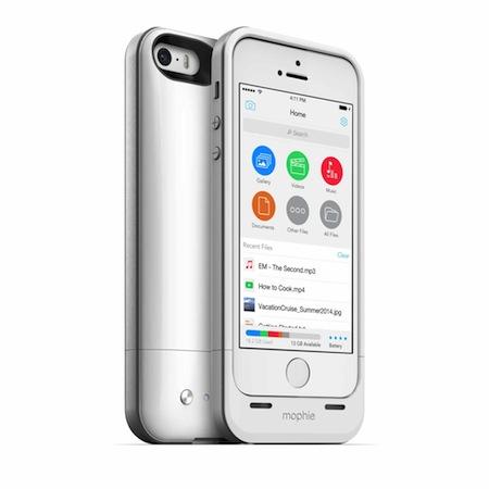 Mophie 爲 iPhone 5 / 5s 推出 Space Pack 保護套,既能充電,又能擴充儲存容量