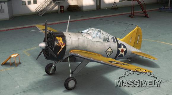 World of Warplanes hangared F2A