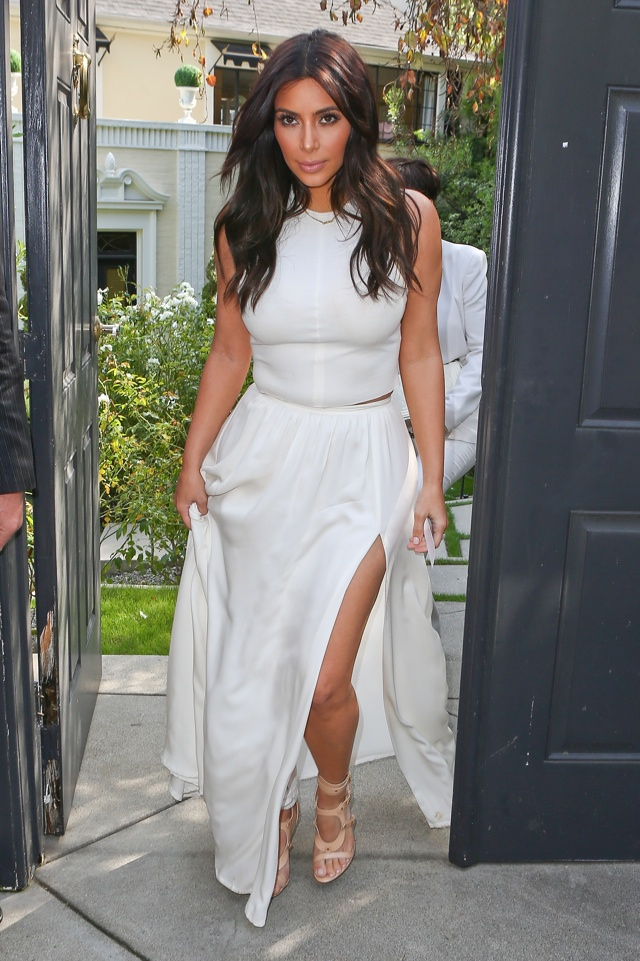 6dc54ae848e Kim Kardashian Wows In White At Ciara s Baby Shower