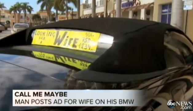 【ビデオ】1日に250件以上もの問い合わせ! BMWを使って婚活する男性