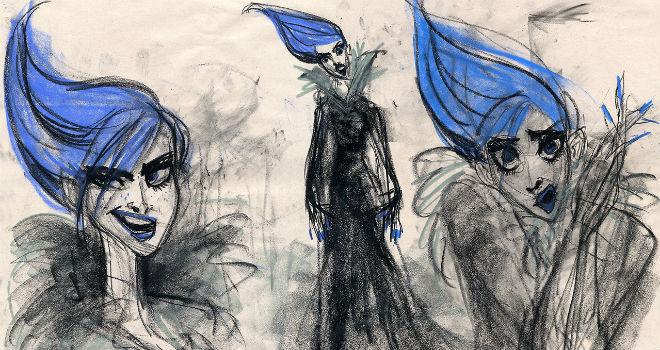 frozen concept art elsa amy winehouse