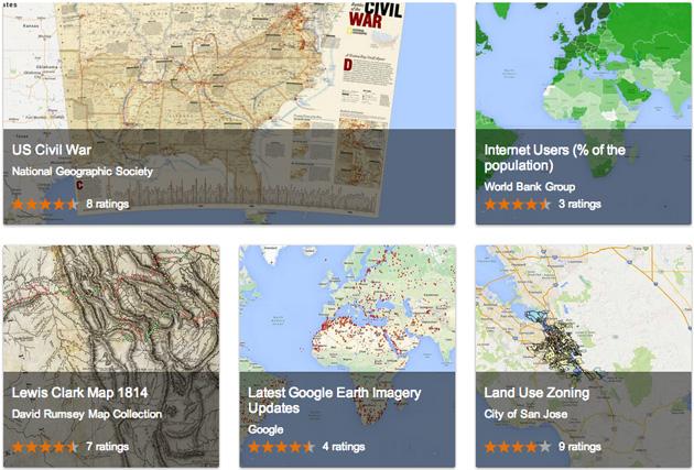 Google 全新的 Maps Gallery 幫你找到公共地圖數據
