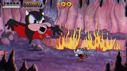 what is in cupheads head