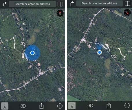 Apple Maps compass mode