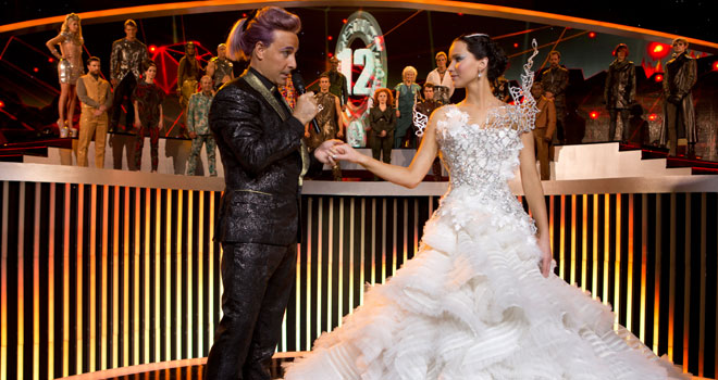 Stanley Tucci and Jennifer Lawrence in 'Hunger Games: Catching Fire'
