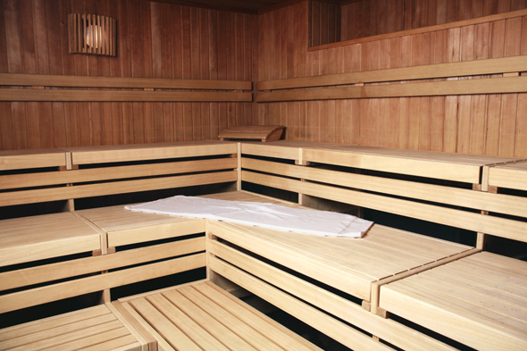Mandatory Credit: Photo by WestEnd61/REX (800013a) Benches of wooden sauna VARIOUS STOCK