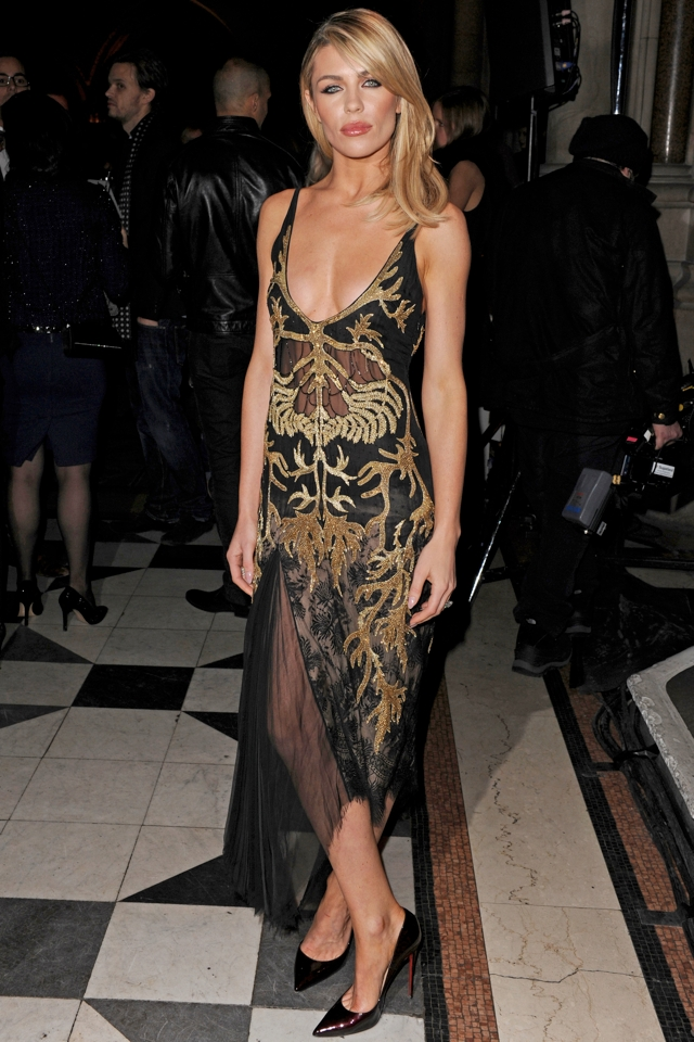 Abbey Clancy Makes Style Boob Front Row At Julien