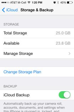 Apple iCloud iOS