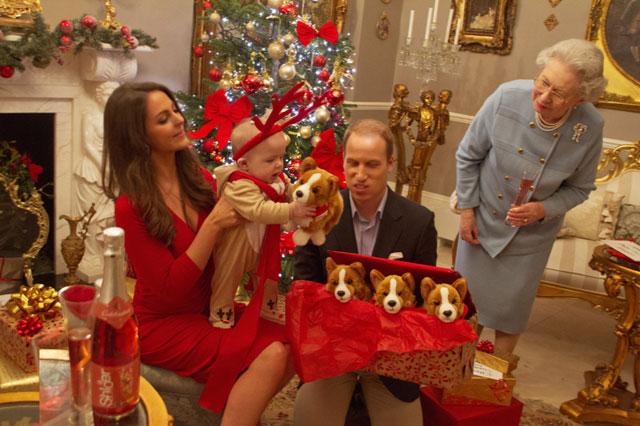 festive fun the royal family celebrate prince georges first christmas