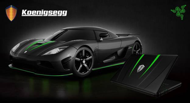 Razer 雷蛇和 Koenigsegg 合作推出限量版 Razer Blade 灵刃笔记本电脑