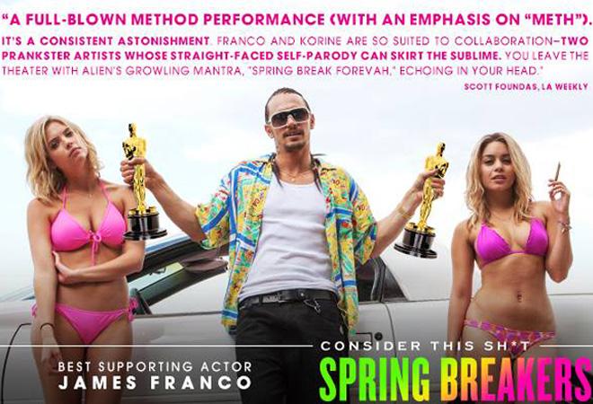 James Franco's 'Spring Breakers' Oscar campaign