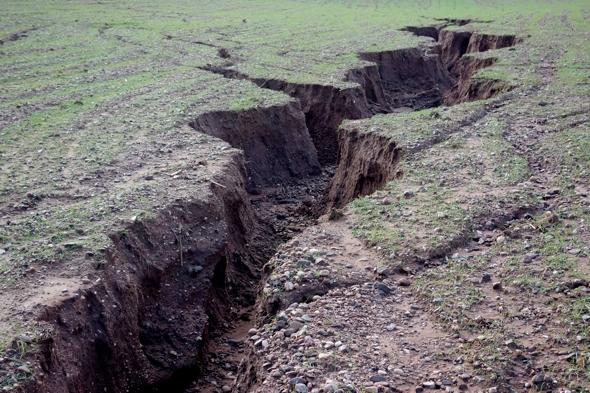 Heavy rain causes 5ft-deep landscape erosion in devon